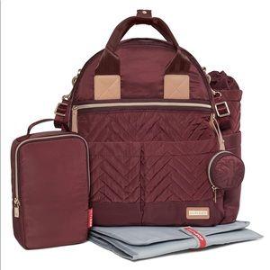 Skip Hop Suite Diaper Backpack Set In Maroon